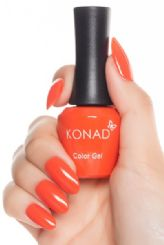 ג'ל לק konad gel polish Red Orange 12